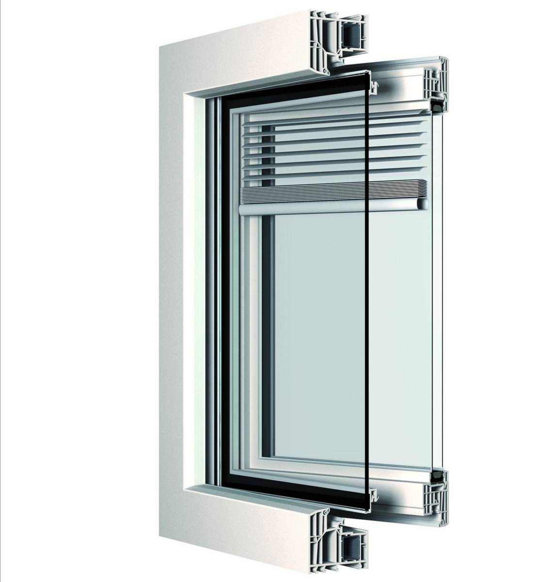 finestra con veneziana integrata